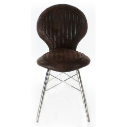 Design chair chocolate fabric - Artis