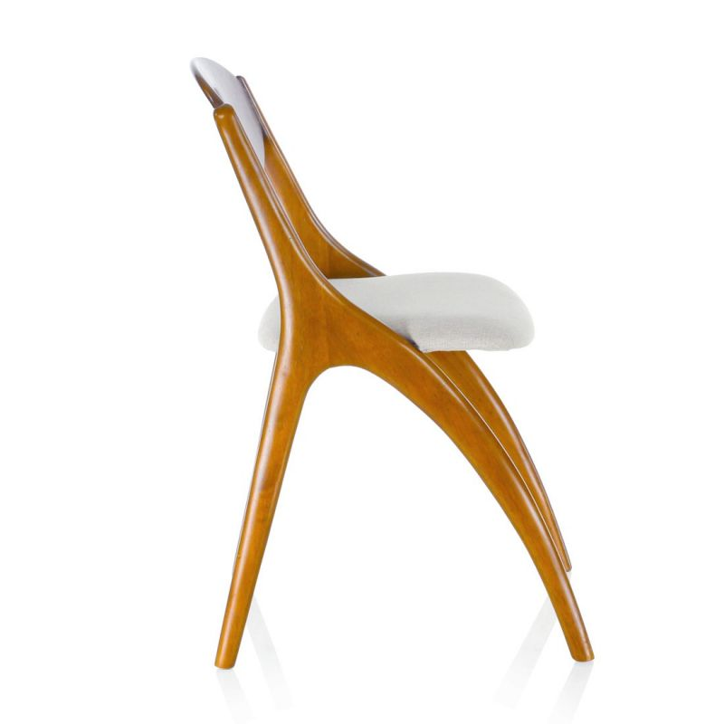 Wood and beige fabric Chair - Orsay