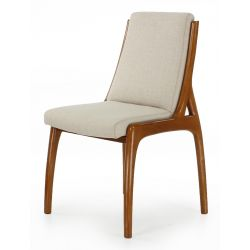 Beige fabric designer chair - Boden