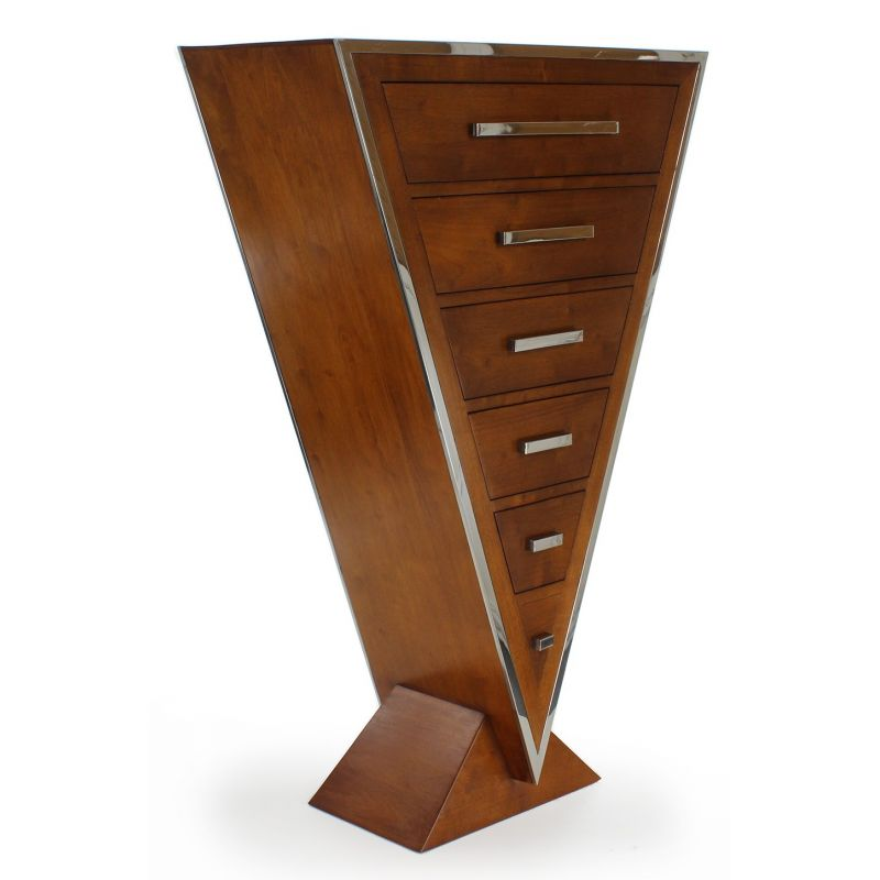 Design chest of drawers in light wood - Delta