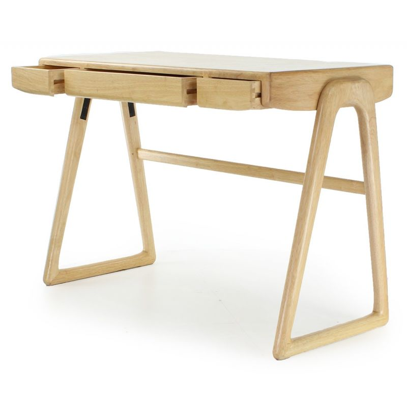 Bureau scandinave bois naturel boden saulaie for Bureau en bois design