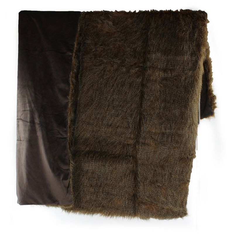 Plaid fur blanket