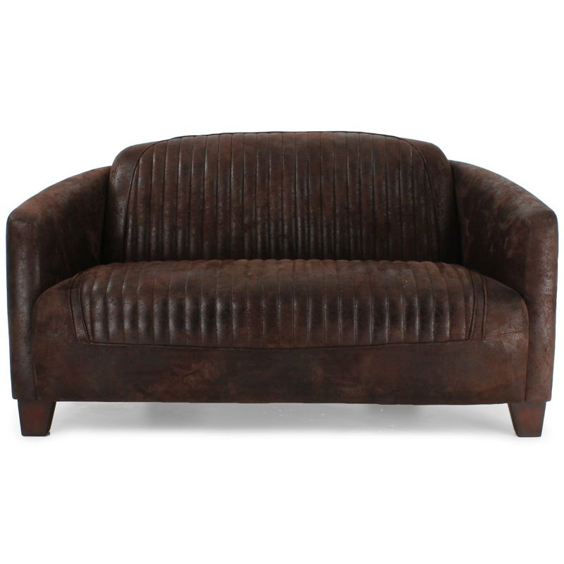 canap club tissu marron vintage sport op ra saulaie. Black Bedroom Furniture Sets. Home Design Ideas