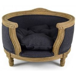 Napoléon dog basket in slate blue