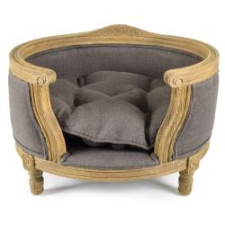 Upholstered dog basket, Napoléon, taupe
