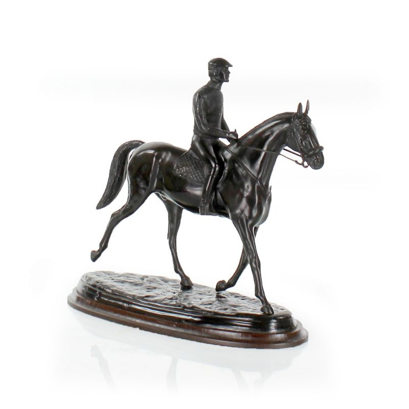 Horse and rider in bronze - Gallop
