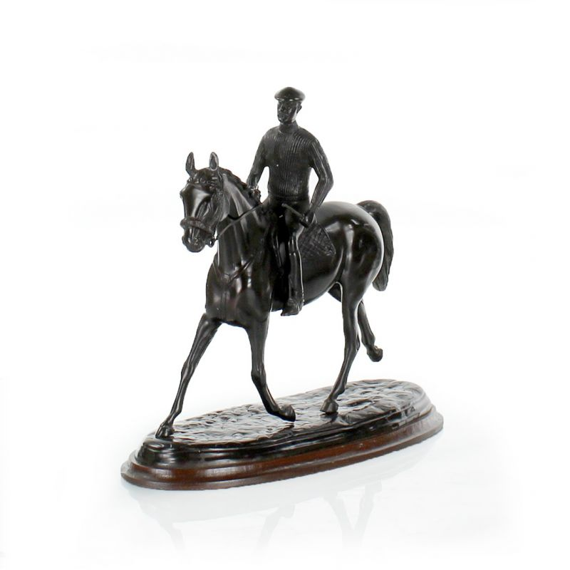 horse and rider in bronze gallop saulaie Raised Hearth Fireplaces 42 cast iron fireplace accessories uk