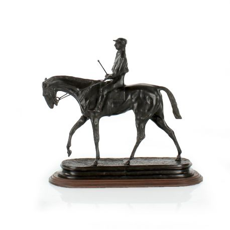 Bronze horse and jockey
