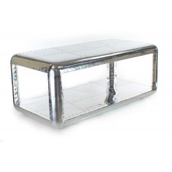 Rectangular aluminum coffee table - Baron