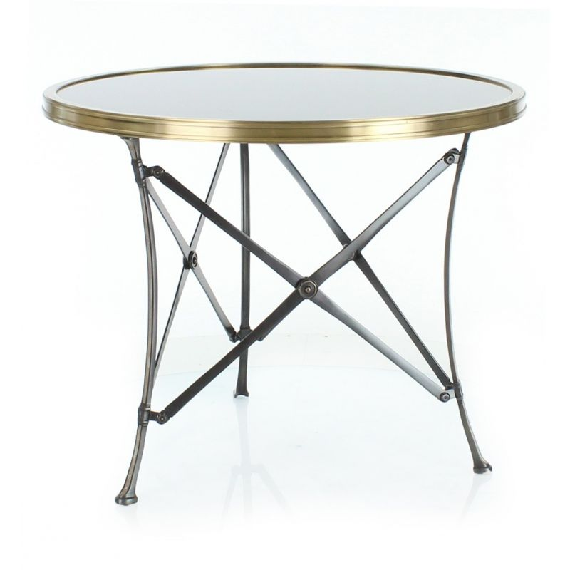 Table basse d 39 appoint ronde rousseau saulaie for Petites tables rondes