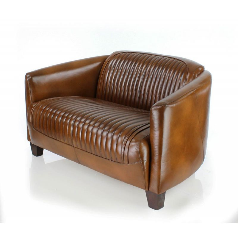 canap club cuir marron vintage sport op ra saulaie. Black Bedroom Furniture Sets. Home Design Ideas