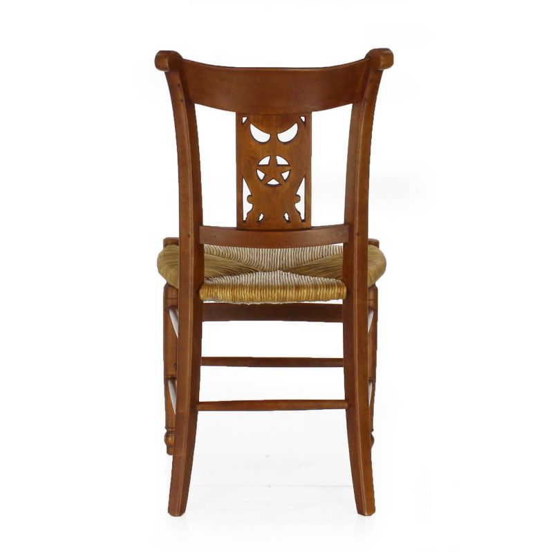 Wooden and straw chair - Star