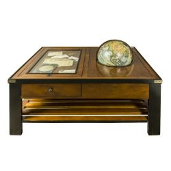Rectangular coffee table with globe - Hermione