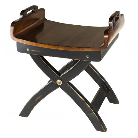 Fireplace stool in wood - Nelson