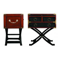 Three-drawer occasional table and shelf – Nelson