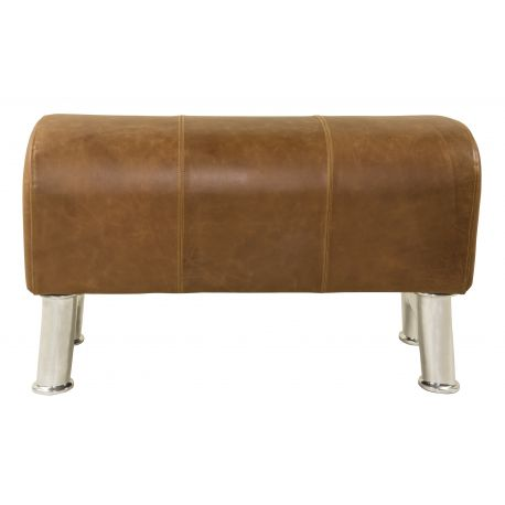 Small leather bench- Gymnaste