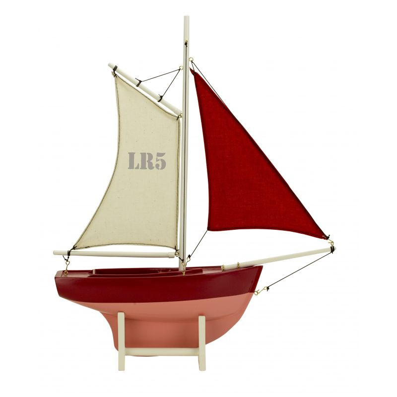 Red children's sailing boat LR5 - Magellan