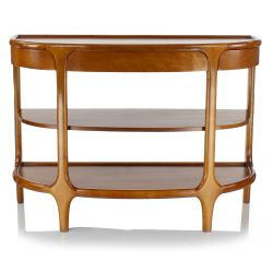 Wooden console table with shelving - Lund