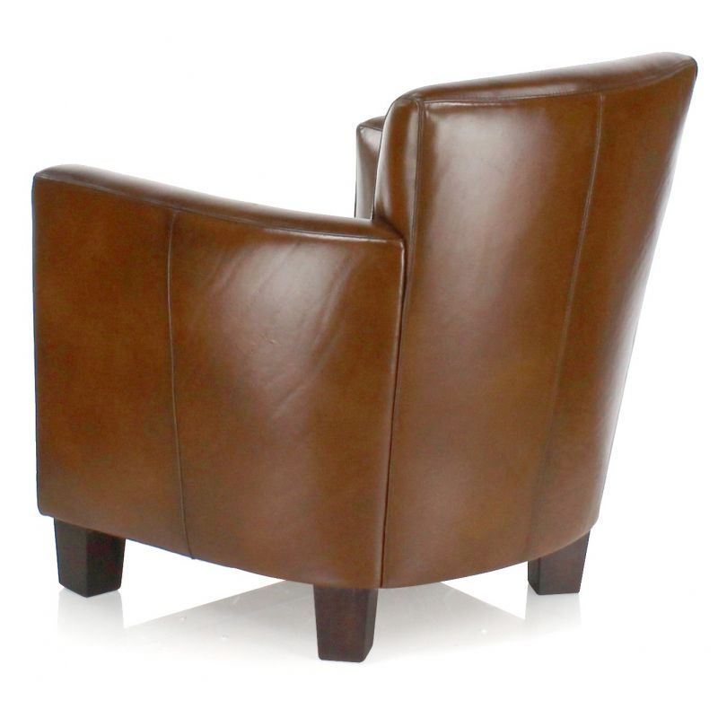 leather club chairs vintage. Vintage Brown Leather Club Chair - Alma Chairs R