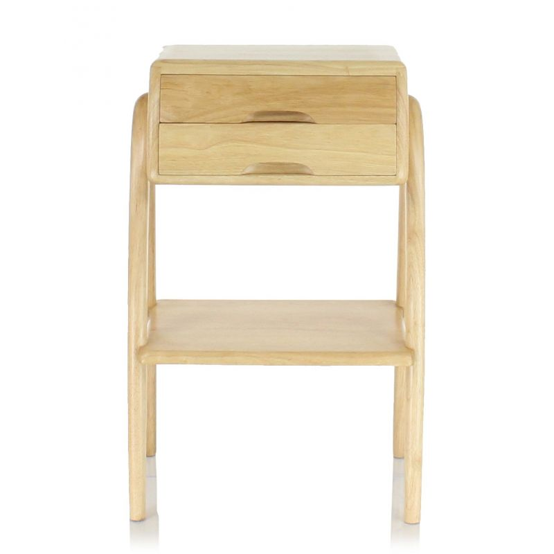 Table de chevet scandinave bois naturel orsay saulaie for Table de chevet bois clair