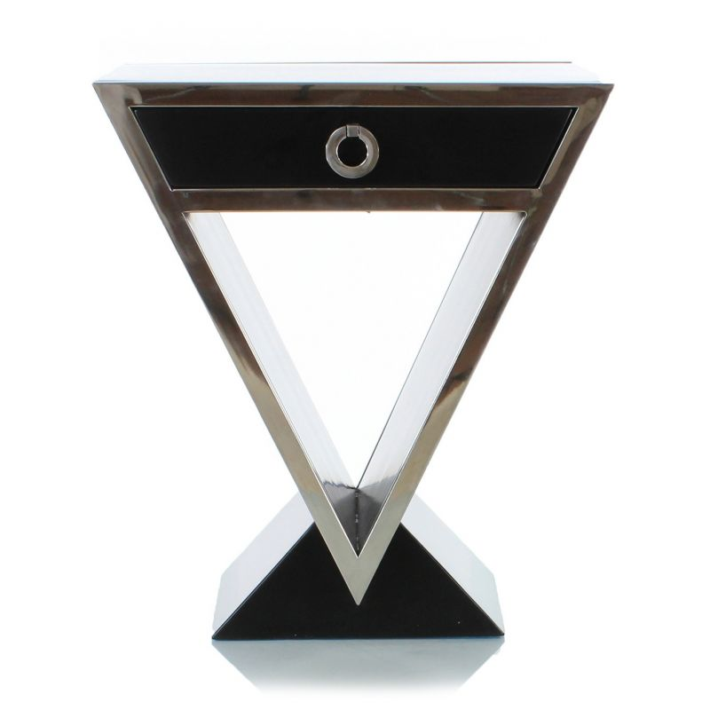 Table de chevet design noir delta saulaie - Table de chevet design ...