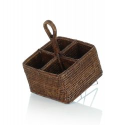 Wicker condiment holder