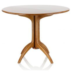 Round wooden folding table - Lund