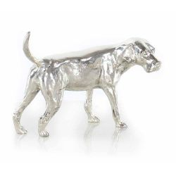 Silver-plated dog