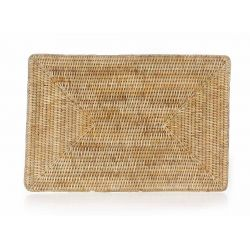 Natural wicker table mats, set of 6
