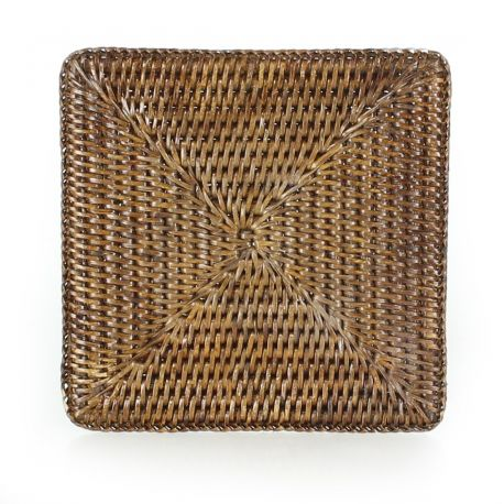 Square wicker table mat