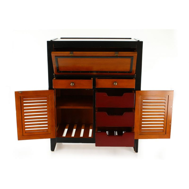 secretaire en pin massif maison design. Black Bedroom Furniture Sets. Home Design Ideas