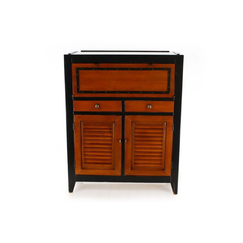 chiffonnier en bois massif noir nelson. Black Bedroom Furniture Sets. Home Design Ideas