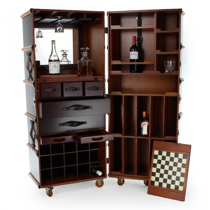 bar trunk furniture. mobile bar cabinet black cabin trunk nelson furniture n