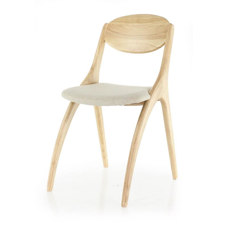 Chaise design scandinave bois naturel orsay saulaie for Chaise en bois design