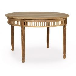 Table de jardin ronde en bois - Chantilly