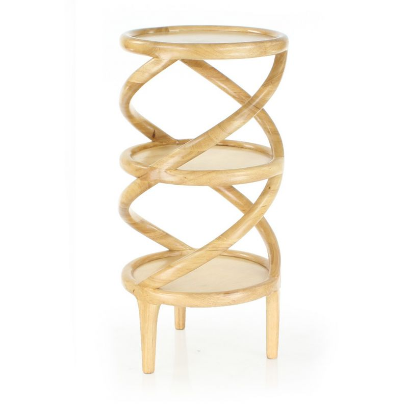 Table d 39 appoint haute scandinave bois naturel volund saulaie for Table bois clair scandinave