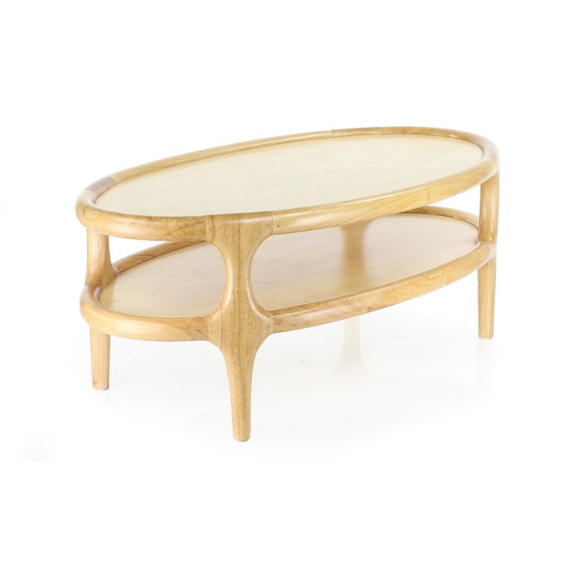 Table basse scandinave en bois massif naturel lund saulaie - Table basse en bois naturel ...