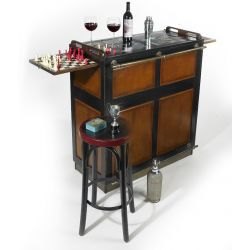 Drinks cabinet bar, aperitif furniture - black Hermione