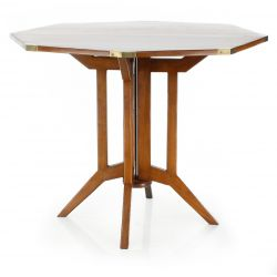 Table pliante en bois - Officier