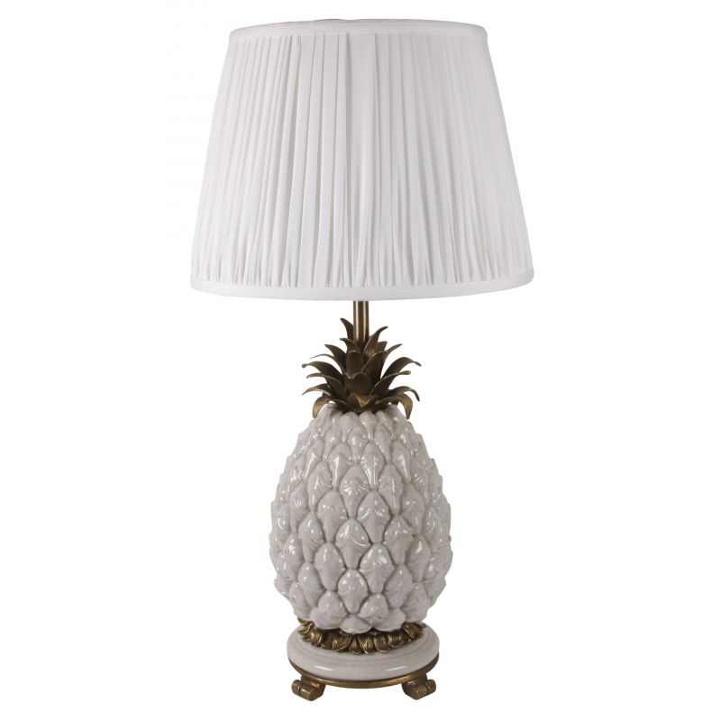 lampe d co ananas blanc astr e saulaie. Black Bedroom Furniture Sets. Home Design Ideas