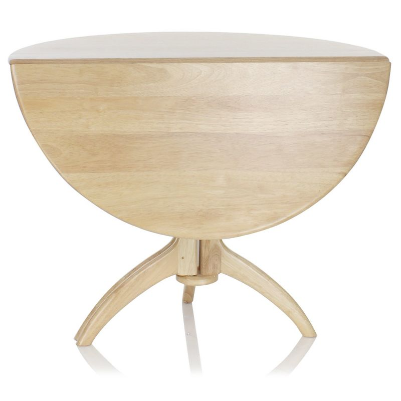 Lund Round Dining Table Natural Wood Saulaie