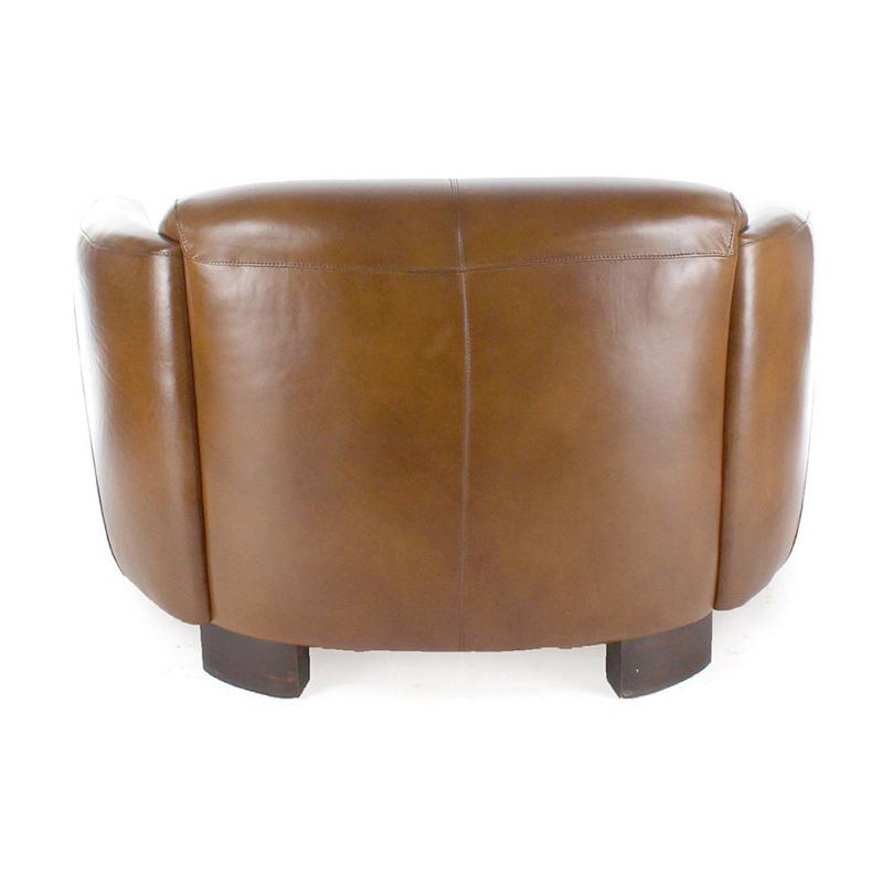 Club sofa vintage brown leather - Opéra