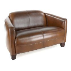 Opéra Club Sofa, Vintage Brown Leather