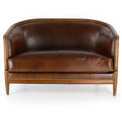 Club sofa brown leather - Edmond