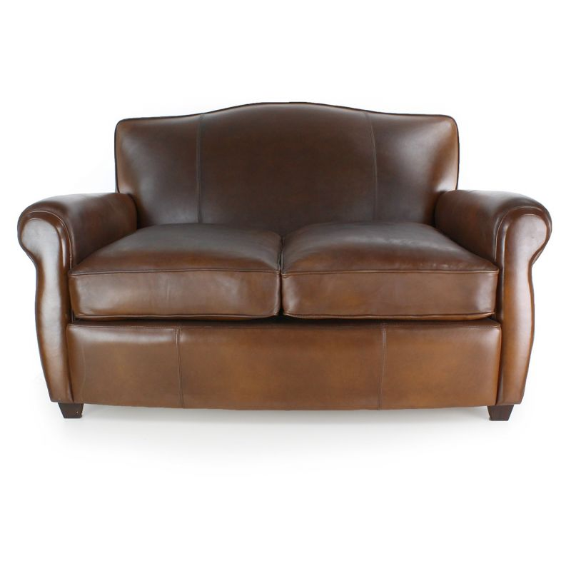 Club Sofa Vintage Brown Leather Op Ra Saulaie