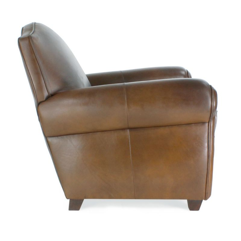 Club Easychair vintage brown leather - Moustache