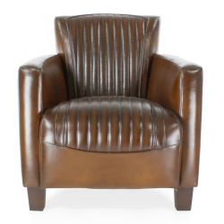 Alma Sport Brown Leather Club Armchair