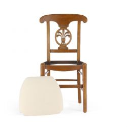 Wooden chair ivory fabric - Palmette