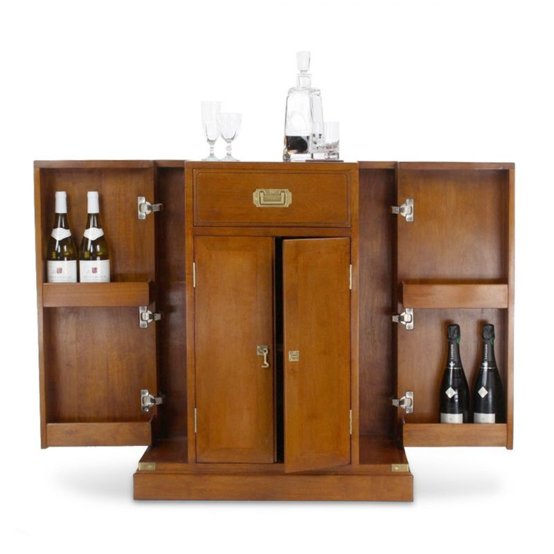 Meuble de bar officier saulaie for Bar meuble design