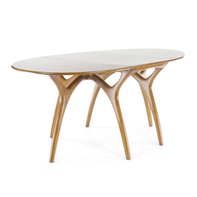 Table de salle manger pliante ovale lund saulaie for Salle a manger table pliante